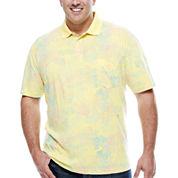 The Foundry Supply Co. Short Sleeve Pattern Jersey Polo Shirt