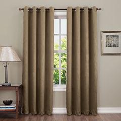 Sun Zero Emory Crush Grommet-Top Curtain Panel
