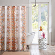 Intelligent Design  Raina Microfiber Shower Curtain