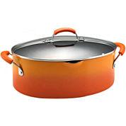 Rachael Ray® Porcelain II 8-qt. Covered Oval Pasta Pot + Pour Spout