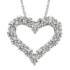 Diamonore™ 1-1/5 CT. T.W. Simulated Diamond Heart Pendant Necklace