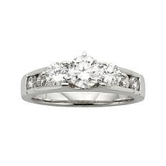 Diamonore™ 1-1/5 CT. T.W. Simulated Diamond Round 3-Stone Ring