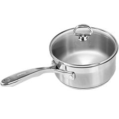 Chantal® Induction 21 Steel™ 1½-qt. Saucepan with Glass Lid