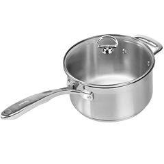 Chantal® Induction 21 Steel™ 3½-qt. Saucepan with Glass Lid