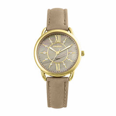 Geneva Womens Tan Strap Watch-Pt2001gdtn