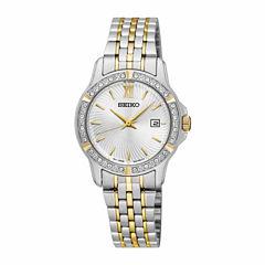 Seiko Womens Two Tone Bracelet Watch-Sur732