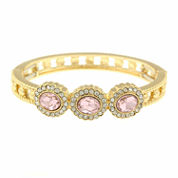 Monet Pink And Goldtone Stretch Bracelet
