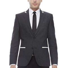 Savile Row Co Slim Fit Black Pindot Sport Coat