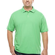 The Foundry Big & Tall Supply Co. Short Sleeve Solid Woven Polo Shirt Big and Tall