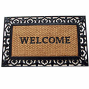 Scroll Welcome Rectangular Doormat - 18
