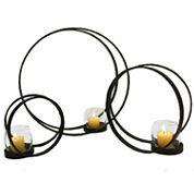Double Orbital Candle Holders- Set of 3