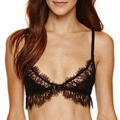 French Affair Wireless Eyelash Lace Bralette-3991br