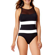 Liz Claiborne Mesh One Piece Swimsuit