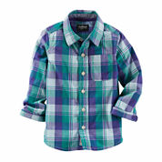 OshKosh B'gosh® Long-Sleeve Plaid Button-Front Shirt - Toddler Boys 2t-5t