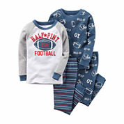 Carter's® 4-pc. Cotton Football Pajama Set - Toddler Boys 2t-5t