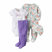 Carter's® 4-pc. White Floral Layette Set - Baby Girls newborn-24m