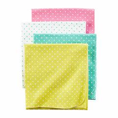 Carter's Girl Pink Dot 4pk Blankets