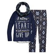 Arizona Crochet Back Top with Scarf Legging Set - Girls 7-16 and Plus