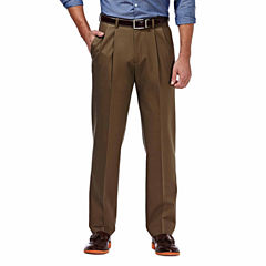 Haggar® Premium No Iron Classic-Fit Pleated Khakis
