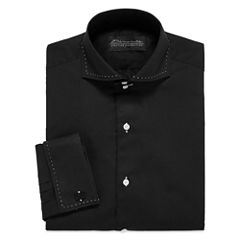 D'Amante Modern French Cuff Long Sleeve Dress Shirt