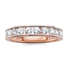 1 CT. T.W. Diamond 10K Rose Gold Wedding Band