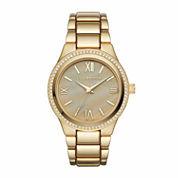 Liz Claiborne Womens Gold Tone Bracelet Watch-Lc1327