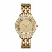 Liz Claiborne Womens Gold Tone Bracelet Watch-Lc1329