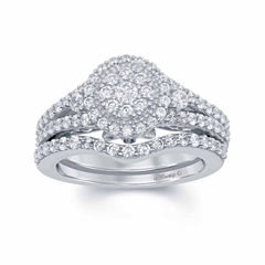 Enchanted by Disney 1 C.T. T.W. Diamond & Blue Saphhire 14K White Gold