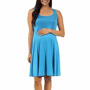 24/7 Comfort Apparel A-Line Dress-Plus Maternity