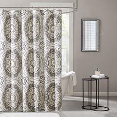 Madison Park Aurora Printed  Shower Curtain