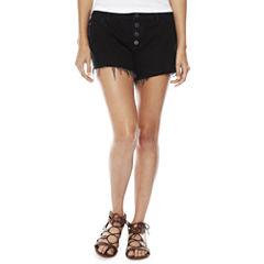 a.n.a. Button Front Denim Shorts