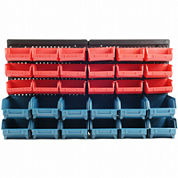Stalwart™ 30-Bin Wall-Mounted Parts Rack