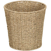Household Essentials® Woven Seagrass Wastebasket