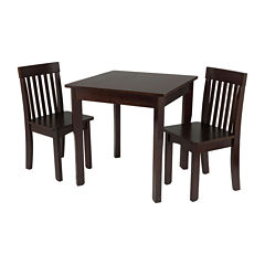 KidKraft® Avalon Square Table and 2 Chairs Set - Espresso