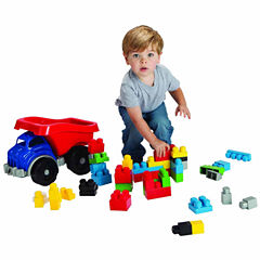 Amloid Kids Big Block Dump Truck With Blocks