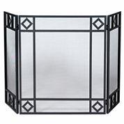 Blue Rhino 3 Fold Wrought Iron Fireplace Screen