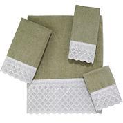 Avanti Eyelet Scallop Bath Towels