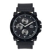 Territory Mens Leather-Look Strap Watch