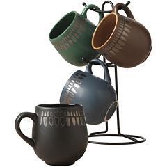 Tabletops Gallery Bomba 5-pc. Mug Tree Set