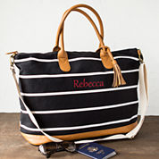Cathy's Concepts Stripe Weekender Bag Tote