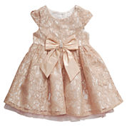 Young Land Short Sleeve Party Dress - Toddler