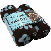 P. B. Paws by Park B. Smith® Set of 2 Pet Lap Throws