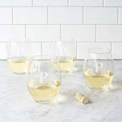 Cathy's Concepts Personalized Set of 4 Stemless Wine Glasses