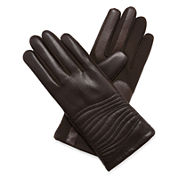 Isotoner® smarTouch® Faux-Leather Stretch Gloves