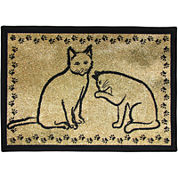 PB Paws by Park B. Smith® Kitty Pals Tapestry Pet Mat