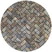 Thirstystone® Stone Herringbone Set of 4 Sandstone Coasters