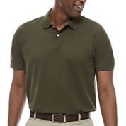St. John`s Bay Short Sleeve Solid Performance Pique Polo Shirt