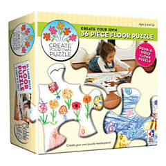 Outset Media Create Your Own Double-Sided Floor Puzzle: 36 Pcs