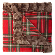 Cuddl Duds Plush Throw with Faux Fur Trim Gift Box