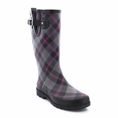 Western Chief Coreen Plaid Womens Rain Boots